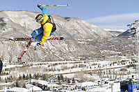 Aspen, Co - 28, JANUARY 2012 - Buttermilk Mountain: David Wise competing in Men's Ski SuperPipe Final during Winter X Games Aspen 2012..(Photo by Allen Kee / ESPN Images)..- RAW FILE AVAILABLE -