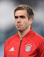 FUSSBALL CHAMPIONS LEAGUE  SAISON 2015/2016 ACHTELFINAL HINSPIEL Juventus Turin - FC Bayern Muenchen             23.02.2016 Philipp Lahm (Bayern Muenchen)