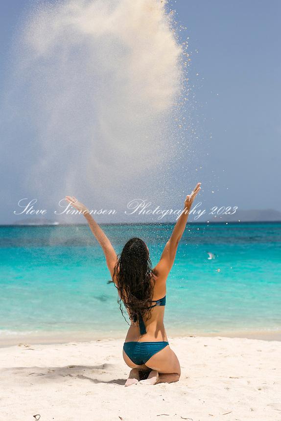 Mayumi  Roller at Cinnamon Bay<br /> Virgin Islands National Park<br /> St. John, US Virgin Islands