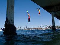 San Diego Junior Lifeguards Jump form OB Pier