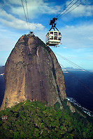 Rio de Janeiro, Brazil, October 2004. Sugar Loaf (Pao de Acucar) The hill 396m above Rio is a must-see. There are two cable cars bringing you to the top. The bustling city of Rio de Janeiro has the famous beach of Copa Cabana as well as very poor people in favella's, slums.  Photo by Frits Meyst/Adventure4ever.com