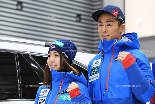 (L-R) Sara Takanashi, Naoki Yuasa, <br /> NOVEMBER 1, 2016 - Skiing :<br /> 2016/2017 SAJ Team Japan TAKE OFF Press Conference<br /> at SUBARU STAR SQUARE, Tokyo, Japan.<br /> (Photo by AFLO SPORT)