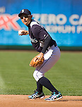 Seattle Mariners second baseman  Munenori Kawasaki, of Japan, fields hits before the Mariner's  opening home game of the season with the Oakland Athletics at SAFECO Field in Seattle April 13, 2012. . © 2012. Jim Bryant Photo. All Rights Reserved..