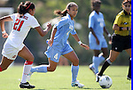 28 August 2011: North Carolina's Bianca Gray (4) and Houston's Jasmine Martinez (21). The University of North Carolina Tar Heels defeated the University of Houston Cougars 6-1 at Fetzer Field in Chapel Hill, North Carolina in an NCAA Women's Soccer game.