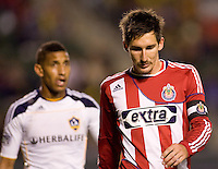 Chivas USA midfielder Sacha Kljestan doing some pondering. The LA Galaxy defeated Chivas USA 2-0 during the Super Clasico at Home Depot Center stadium in Carson, California Thursday evening April 1, 2010.  .