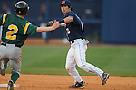 Ole Miss' Blake Newalu (6) forces out  Wright State's Dan Marsh (2) at Oxford University Stadium in Oxford, Miss. on Saturday, February 19, 2011. Ole Miss won 5-4 in 10 innings to improve to 2-0 on the season.