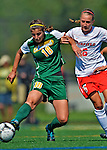 26 August 2012: University of Vermont Catamount midfielder Lily Feldman in action against Michelle Kowalski of the Fairfield University Stags at Virtue Field in Burlington, Vermont. The Stags defeated the Lady Cats 1-0. Mandatory Credit: Ed Wolfstein Photo