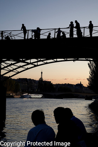 Pont des Arts Bridge, River Seine, Paris