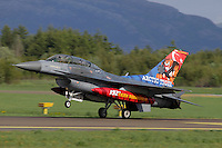 Turkish F-16 with tiger paint scheme lands. Nato Tiger Meet is an annual gathering of squadrons using the tiger as their mascot. While originally mostly a social event it is now a full military exercise. Tiger Meet 2012 was held at the Norwegian air base Ørlandet.