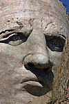 The pupils and nostrils whre the last features created on Crazy Face in 1998.  All face ofthe American Presidents at Mount rushmore could fit just the face of Crazy Horse. Crazy Horse the world's largest sculpture has been in progress since 1947 when sculptor Korczak Ziolkowski (1908-1982) arrived in the Black Hills of South Dakota to accept the Indians invitation to carve a mountain. The Memorial is not a federal or state project.  The project is being continued by Korczak's wife, Ruth, and their large family.  ..