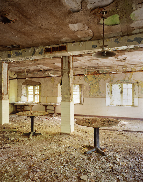 The Downstairs Cafeteria of the Abandoned Buck Hill Falls Inn.