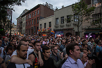 NEW YORK JUNE 13: People take part during a vigil in solidarity outside Manhattan's historic Stonewall Inn to express their support for the victims killed at Pulse nightclub in Orlando. New York June 13, 2016<br /> Photo by VIEWpress/Maite H. Mateo., Photo by
