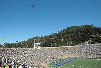 Flyover. The California Golden Bears defeated the Colorado Buffaloes 52-7 at Memorial Stadium in Berkeley, California on September 11th, 2010.