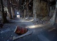 Abandoned power plant, corridor