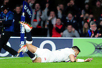 Ben Te'o of England scores a try in the second half. RBS Six Nations match between England and France on February 4, 2017 at Twickenham Stadium in London, England. Photo by: Patrick Khachfe / Onside Images