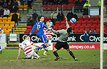 St Johnstone v Hamilton Accies....02.02.11  .Stevie May chips the ball over Tomas Cerny to make it 2-0.Picture by Graeme Hart..Copyright Perthshire Picture Agency.Tel: 01738 623350  Mobile: 07990 594431
