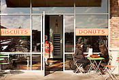December 29, 2012. Durham, North Carolina.. RISE Bakery, located near Southpoint Mall, is known for their biscuits and donuts..