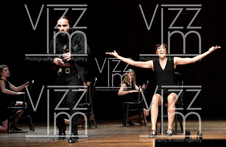 """BOGOTÁ-COLOMBIA-23-03-2016. Ensayo de la obra """"Songs of Lear"""" (Polonia) de Theatre Association en el marco del XV Festival Iberoamericano de Teatro de Bogotá. Este es el festival de teatro más grande del mundo y se lleva a cabo en Bogotá entre el 11 y el 27 de marzo de 2016. / Rehearsal of the play """"Songs of Lear"""" (Poland) of Theatre Association under the XV Ibero-American Theater Festival of Bogota. This is the world's largest theater festival and is held in Bogota between 11 and 27 March 2016.  Photo: VizzorImage/ Gabriel Aponte /Staff"""