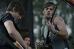 Black Rebel Motorcycle Club performs at Bumbershoot in Seattle,  WA.,  on August 30, 2007.  Jim Bryant Photo. ©2007. All Rights Reserved.