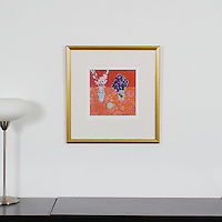 "Majoli: Sweet Peas, Digital Print, Image Dims. 10"" x 10"", Framed Dims. 21"" x 20.25"""