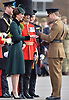 17.03.2017, Hounslow; UK: DUKE &amp; DUCHESS OF CAMBRIDGE<br /> enjoy a pint of Guinness with soldiers from The Irish Guards.<br /> Prince William, Duke of Cambridge, Colonel of the Irish Guards, accompanied by Kate Middleton, visited The 1st Battalion Irish Guards for a special St Patrick's Day Parade at their Barracks in Hounslow. During the parade the Duchess presented shamrocks to the Irish Guards.<br /> Mandatory Photo Credit: NEWSPIX INTERNATIONAL<br /> <br /> PHOTO CREDIT MANDATORY!!: NEWSPIX INTERNATIONAL(Failure to credit will incur a surcharge of 100% of reproduction fees)<br /> <br /> IMMEDIATE CONFIRMATION OF USAGE REQUIRED:<br /> Newspix International, 31 Chinnery Hill, Bishop's Stortford, ENGLAND CM23 3PS<br /> Tel:+441279 324672  ; Fax: +441279656877<br /> Mobile:  0777568 1153<br /> e-mail: info@newspixinternational.co.uk<br /> All Fees Payable To Newspix International
