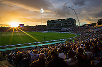Picture by Alex Whitehead/SWpix.com - 01/09/2016 - Cricket - Royal London One-Day Series - England v Pakistan - Headingley Cricket Ground, Leeds, England - A General View (GV) of the sunset at Headingley.