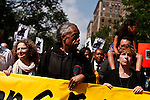 "Reverend Al Sharpton take part during a silent march to end the ""stop-and-frisk"" program in New York June 17, 2012.  Photo by Kena Betancur / VIEWpress.."