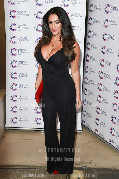 Casey Batchelor arriving at James Ingham&rsquo;s Jog On to Cancer, in aid of Cancer Research UK at The Roof Gardens in Kensington, London.  <br /> 12 April  2017<br /> Picture: Steve Vas/Featureflash/SilverHub 0208 004 5359 sales@silverhubmedia.com
