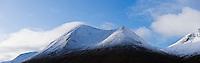 Bheinn Dearg Mhor autumn snow, Red Cuillin, Isle of Skye, Scotland