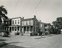 UNDATED..Assisted Housing..Tidewater Gardens (6-2 & 6-9)...1052 1054 1056 Jamison Street .houses facing left taken from Ferguson Street which runs down right hand corner of photo..McIntosh Studio.NEG#.NRHA# 668..