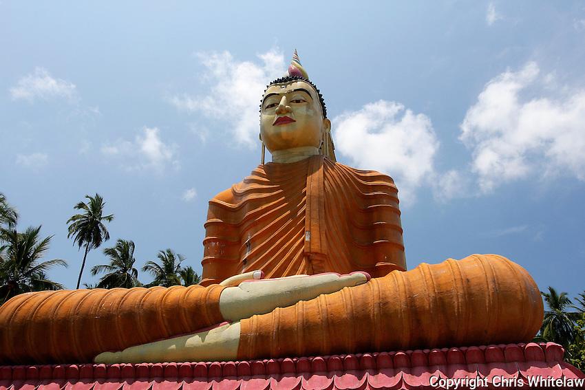Seated Buddha statue (50 metres), Wewurukannala Vihara, Dikwella, Sri Lanka