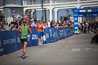Oceanside, CA. - Saturday, March 29, 2014: Meredith Kessler takes 3rd place in the Accenture Ironman California 70.3 in.
