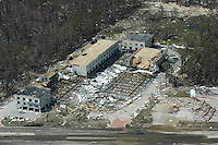Aerial view of Gulfport after Hurricane Katrina Aug. 30,2005.