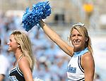 15 September 2007: UNC cheerleader. The University of Virginia Cavaliers defeated the University of North Carolina Tar Heels 22-20 at Kenan Stadium in Chapel Hill, North Carolina in an Atlantic Coast Conference NCAA College Football Division I game.