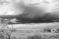 Grand Teton thunderstorm at the Shane Cabin in Grand Teton Park