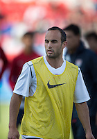 03 June 2012: US Men's National Soccer Team forward Landon Donovan #10in action during the warm-up in an international friendly  match between the United States Men's National Soccer Team and the Canadian Men's National Soccer Team at BMO Field in Toronto..The game ended in 0-0 draw..
