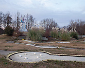December 07, 2009. Durham, North Carolina..Closed mini golf course on Garrett Road.
