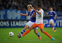 FUSSBALL   CHAMPIONS LEAGUE   SAISON 2012/2013   GRUPPENPHASE   FC Schalke 04 - Montpellier HSC                                   03.10.2012 Teemu Pukki (li, FC Schalke 04) gegen Hilton (re, MHSC)