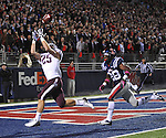Texas A&amp;M wide receiver Ryan Swope (25) catches a touchdown pass as Mississippi defensive back Mike Hilton (28) defends late in the 4th quarter in Oxford, Miss. on Saturday, October 6, 2012. Texas A&amp;M won 30-27. (AP Photo/Oxford Eagle, Bruce Newman)..