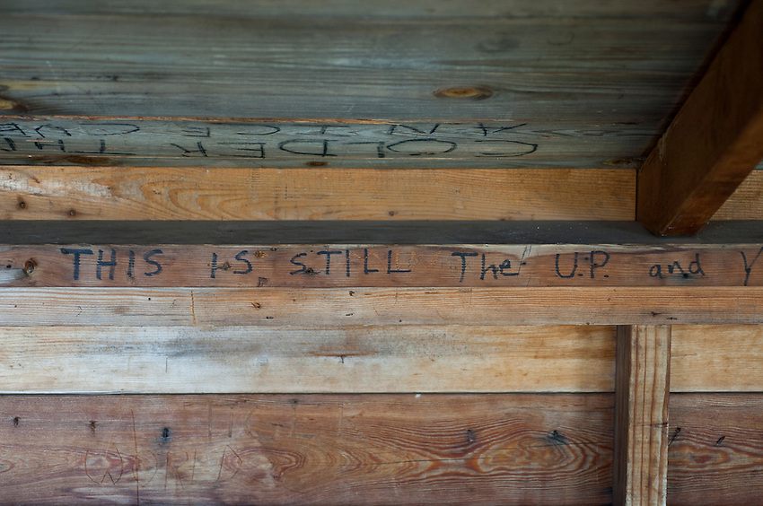 Humorous grafiti in backcountry shelters at Isle Royale National Park.