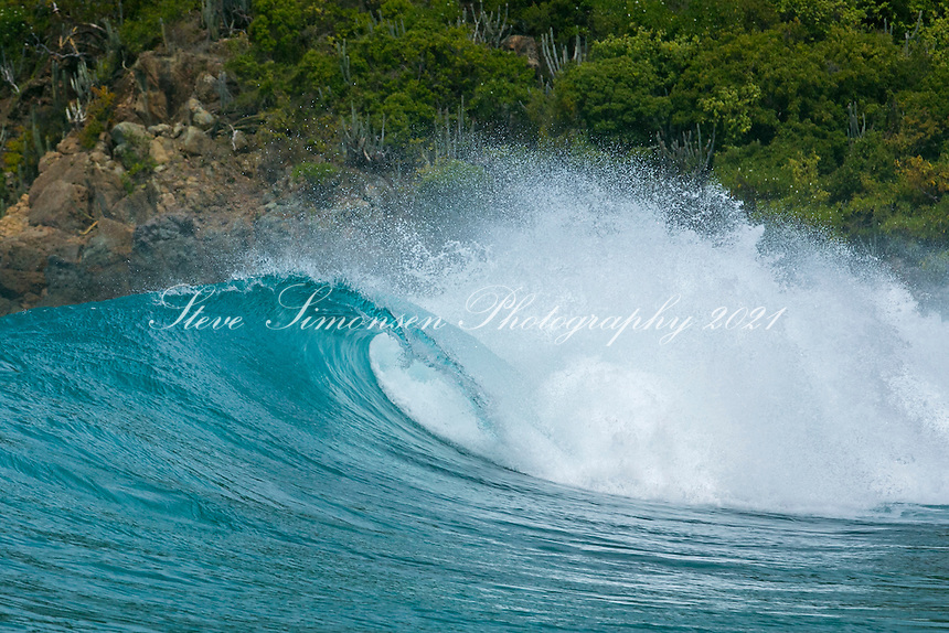 Caribbean wave<br /> Mosquito Island<br /> British Virgin Islands