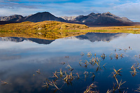 Tundra pond and Endicott mountains of the Brooks range, arctic, Alaska.
