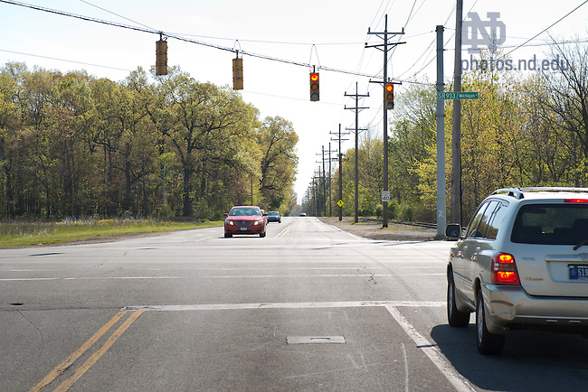 Apr. 27, 2012; Intersection of State Road 933 and Douglas Road...Photo by Matt Cashore/University of Notre Dame