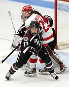 Maddy Norton (Union - 13), Isabel Menard (BU - 20), Alana Marcinko (Union - 29) - The Boston University Terriers defeated the visiting Union College Dutchwomen 6-2 on Saturday, December 13, 2012, at Walter Brown Arena in Boston, Massachusetts.