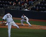 Ole Miss' Preston Overbey (1) vs. North Carolina-Wilmington's  at Oxford-University Stadium in Oxford, Miss. on Saturday, February 25, 2012. Ole Miss won 6-4.