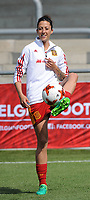 20170408 - EUPEN ,  BELGIUM : Spanish Jennifer Hermoso  pictured during the female soccer game between the Belgian Red Flames and Spain , a friendly game before the European Championship in The Netherlands 2017  , Saturday 8 th April 2017 at Stadion Kehrweg  in Eupen , Belgium. PHOTO SPORTPIX.BE | DIRK VUYLSTEKE