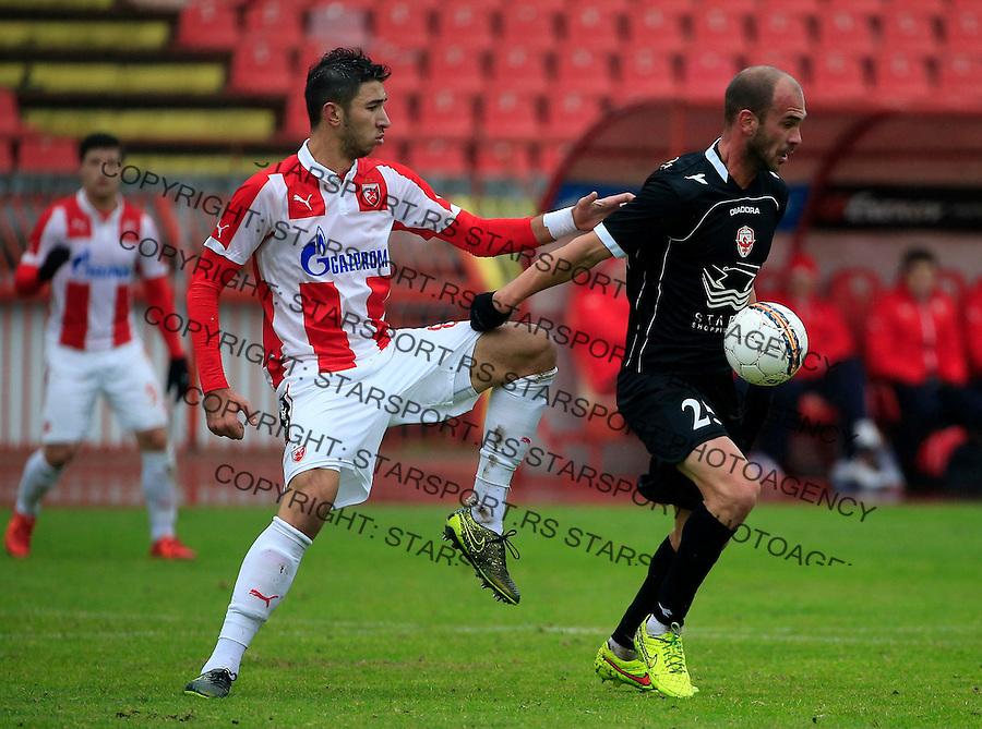 Fudbal Jelen Super League season 2015-2016<br /> Crvena Zvezda v Vozdovac<br /> Milos Pavlovic (R) and Marko Grujic<br /> Beograd, 28.11.2015.<br /> foto: Srdjan Stevanovic/Starsportphoto&copy;