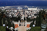 The Baha'i shrine is seen in the northern city of Haifa on Sept. 29, 2013. A gold-enamel domed shrine set among tranquil, dramatically terraced gardens looks out over Israel's busy port city of Haifa and the Mediterranean beyond. Baha'is believe all the great religions are signs of a single divine purpose. They espouse world peace, but their holiest places and world centre happen to be in what is now Israel, at the heart of the Middle East's political cauldron. Photo by Saeed Qaq