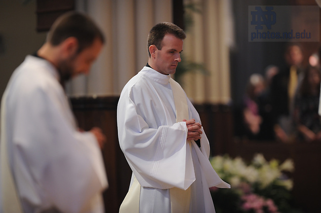 Newly ordained priests Rev. Andrew Gawrych, C.S.C., left, and Rev. Stephen Lacroix, C.S.C.