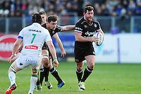 Nathan Catt of Bath Rugby in possession. European Rugby Challenge Cup match, between Bath Rugby and Pau (Section Paloise) on January 21, 2017 at the Recreation Ground in Bath, England. Photo by: Patrick Khachfe / Onside Images
